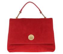 Satchel Bag Liya Suede Crossbody Bag Coquelicot rot
