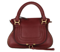 Marcie Double Carry Bag Smooth Calfskin Sienna Red Tote