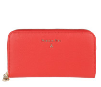 Logo Wallet Grained Leather Mars Red