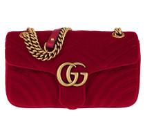 GG Marmont Shoulder Bag Velvet Hibiscus Tasche