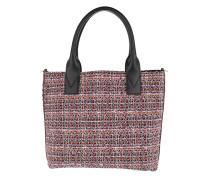 Aguglia Tweed Shopping Tote Multi Nero/Rosa Tote rosa