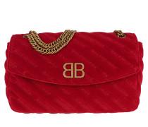 BB Round M Shoulder Bag Velluto Red Tasche