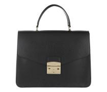 Satchel Bag Metropolis M Top Handle Bag Onyx schwarz