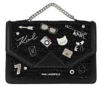 K/Klassik Pins Shoulderbag Black Satchel Bag
