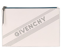 Clutch Perforated Logo Clutch White weiß