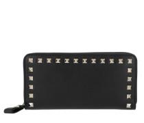 Rockstud Wallet 2 Leather Black