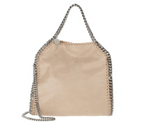 Tote Mini Falabella with 3 Chains Clotted Cream beige