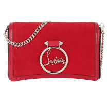 Umhängetasche Rubylou Clutch Leather Rouge rot