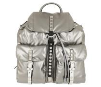 Metallic Backpack Nylon Iron/Black Rucksack