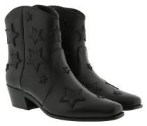 Boots Star Booties Leather Black schwarz