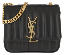 Umhängetasche Vicky Matelassé Crossbody Bag Small Black schwarz