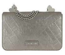 Logo Shoulder Bag Pewter/Metallic Satchel Bag