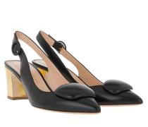 Pumps Marina Mid-Heel Black/Gold