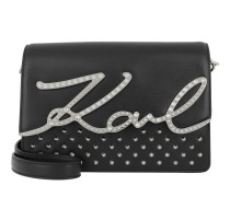 K/Signature Studs Shoulderbag Black/Nickel Tasche