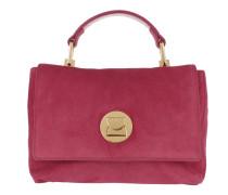 Liya Suede Handle Bag Framboise Tasche