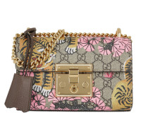 Padlock GG Supreme Umhängetasche Bag Bengal Print Pink/Beige braun