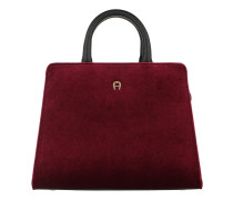 Cybill Velluto Handle Bag Extra Small Burgundy Tote
