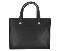 Tote Le Foulonné Handle Bag Leather Black schwarz