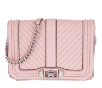 Chevron Quilted Small Love Crossbody Bag Peony Tasche