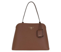 Tote Matinée Handbag Saffiano Leather Brown braun