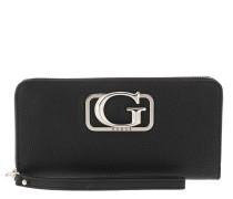 Portemonnaie Annarita Large Zip Around Wallet Black schwarz