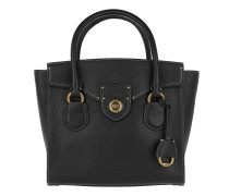 Pebbled Leather Satchel Medium Black Tote