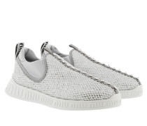 Sneakers Low Top Sneaker Silver/White weiß