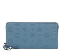 Klara Zipped Wallet Large Luft Blue