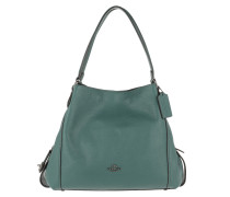 Tote Polished Pebble Leather Edie 31 Shoulder Bag Dark Turquoise grün