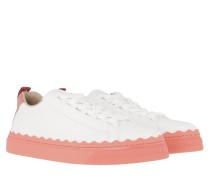 Sneakers Lauren Low Top White Coral