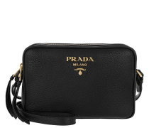 Calf Leather Shoulder Bag Black Tasche