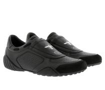 D-Fence Sneakers Calfskin Suede Black Sneakers