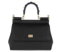 Sicily Mini St. Dauphine Black Satchel Bag