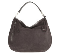 Hobo Bag Suede Dark Grey