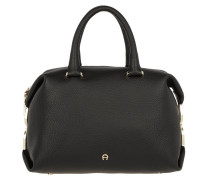 Roma Satchel Bag Black Tote