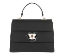 Satchel Bag Mughetto M Top Handle Bag Onyx schwarz