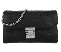 Millie Leather Wallet Small Flap Crossbody Bag Black Tasche