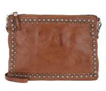 Pochette Shoulder Bag Studs/Strass Cognac Tasche