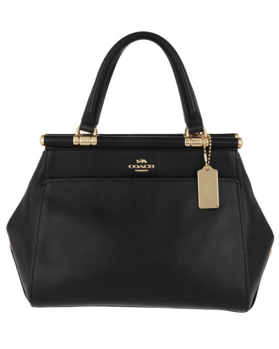 Refined Calf Leather Grace Bag Black Tote