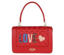 Quilted Love Shoulder Bag Red Tasche