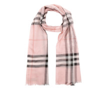 Gauze Giant Check Scarf Rose Schal