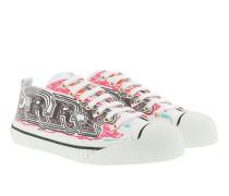 Low Top Sneakers Graffiti Print White Sneakers