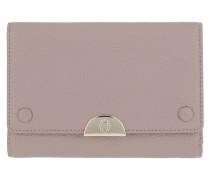 Romy Wallet Leather Stone Grey Portemonnaie