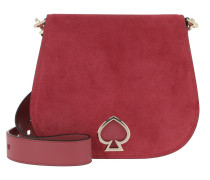 Umhängetasche Suzy Suede Large Saddle Bag  Red Jasper rosa