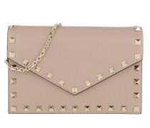 Rockstud Envelope Shoulder Bag Leather Poudre Tasche