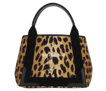 Tote Small Leopard Navy Cabas Bag Black