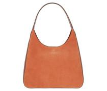 Hobo Bag Rita Suede Medium Hobo Bag Amber orange