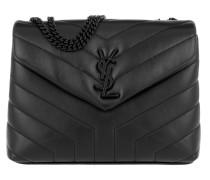 Loulou Chain Bag Small Black Satchel Bag