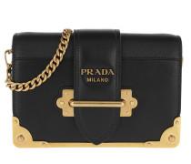 Umhängetasche Cahier Crossbody Bag Leather Nero/Gold schwarz