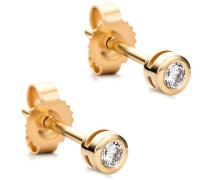 Ohrringe 14KT Diamond Stud Earrings Yellow Gold
